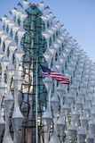 The Embassy of The United States of America in London. London, 18th January 2018:- The Embassy of the United States of America, located at 33 Nine Elms Lane royalty free stock photo
