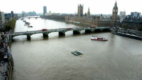 London Thames Aerial stock video