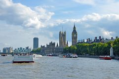 London Thames River. And Big Ben Tower. London, United Kingdom, Europe. European Cities Photo Collection Stock Images