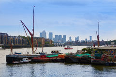 London Thames river boats England Royalty Free Stock Images