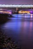 London Thames River at night Stock Image
