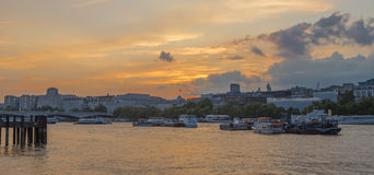 London Thames Skyline from the Southbank Royalty Free Stock Image