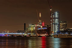 London Thames south bank, december 2013 Royalty Free Stock Images