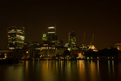 London Thames Southwark bank Royalty Free Stock Photography