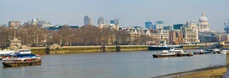 London Themse Stockfoto