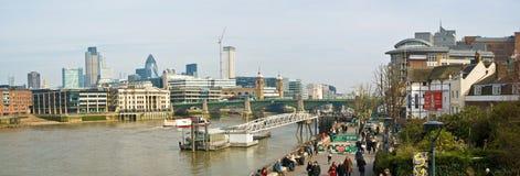 London Themse Stockbild