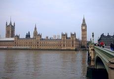 London Themsen och Big Ben Royaltyfri Foto