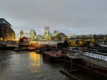 London tidig afton royaltyfri fotografi