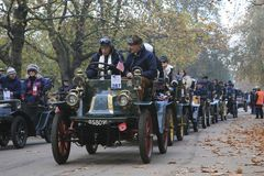 London to Brighton Veteran Car Run Royalty Free Stock Photo