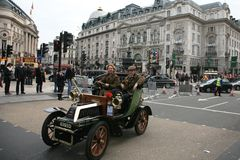 London to Brighton Veteran Car Run Royalty Free Stock Photography