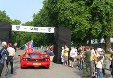 London to Monte Carlo Rally Start Royalty Free Stock Images