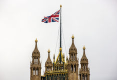 London Top of Victoria Tower, Palace Of Westminster. View of Victoria Tower, Palace Of Westminster, from Parliament Street London royalty free stock photo