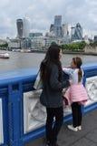London torn bridge1 Fotografering för Bildbyråer