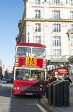 London tour red touristic bus. Vintage bus Stock Photos