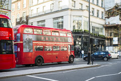 London tour red touristic bus. Vintage bus Royalty Free Stock Image