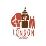 London tourism logo template hand drawn vector Illustration Stock Image