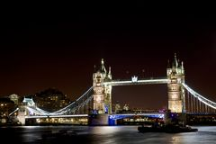 London Tourism. Tower bridge on Thames River London Stock Photography