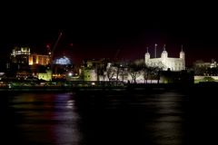 London Tourism. Tower of london on Thames River Royalty Free Stock Photography