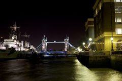London Tourism. Tower of london on Thames River Stock Photos