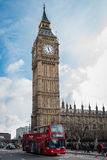 London Tourist Bus Stock Photo