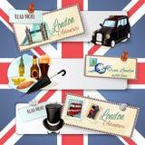 London Touristic Banner Set Royalty Free Stock Image