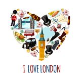 London Touristic Poster Stock Photos