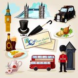 London Touristic Set Stock Photo