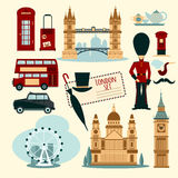 London Touristic Set Royalty Free Stock Image