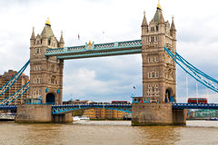 london towe r in england old bridge and the cloudy sky Royalty Free Stock Photos
