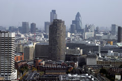 London Tower Blocks. View of the London skyline with many of the modern tower blocks Royalty Free Stock Image