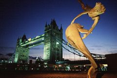 London Tower Bridge. Night shot of the Tower Bridge royalty free stock photography