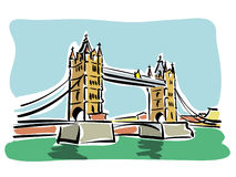 London (Tower bridge) Royalty Free Stock Photography