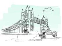 London tower bridge vector Stock Images