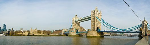 London Tower Bridge. Tower Bridge and the Tower of London royalty free stock image
