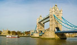 London Tower Bridge. Tower Bridge and the Tower of London royalty free stock photo