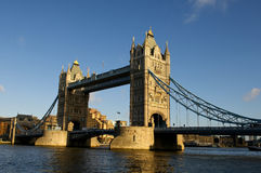 London Tower bridge. Through the river Thames Stock Image