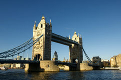 London Tower bridge. Through the river Thames Royalty Free Stock Photography
