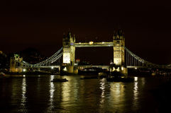 London Tower bridge. Through the river Thames Royalty Free Stock Photo