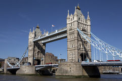 London tower bridge. On the river thames one of London's most famous landmarks opened in 1894 and is easily recognised by its twin gothic towers london england royalty free stock photo