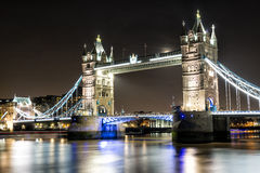 London Tower Bridge across the River Thames Stock Photos