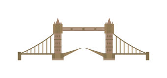 London tower bridge attraction capital England vector illustration. Stock Image