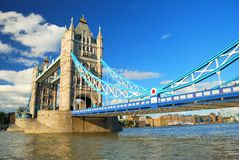 London Tower Bridge close view in evening light royalty free stock photo
