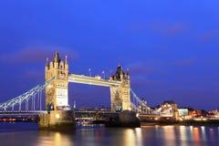 London Tower Bridge at Dusk Stock Photos