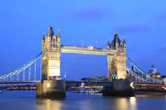 London Tower Bridge at Dusk Stock Photos