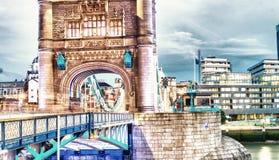 London Tower Bridge at dusk Stock Photography