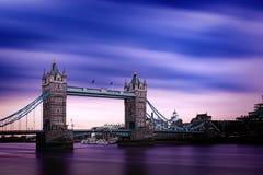 The London Tower Bridge at dusk Stock Photo