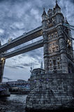 London Tower Bridge Gothic Style. Tower Bridge on a Gloomy Evening Royalty Free Stock Image