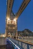 London Tower Bridge illuminated in the evening - London England  UK Stock Image