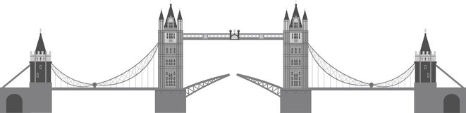 London Tower Bridge Illustration Royalty Free Stock Images
