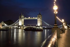 London - Tower bridge in night Royalty Free Stock Images